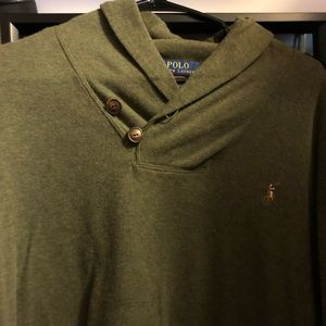 Men's Polo Sweater Hunter Green size X-Large